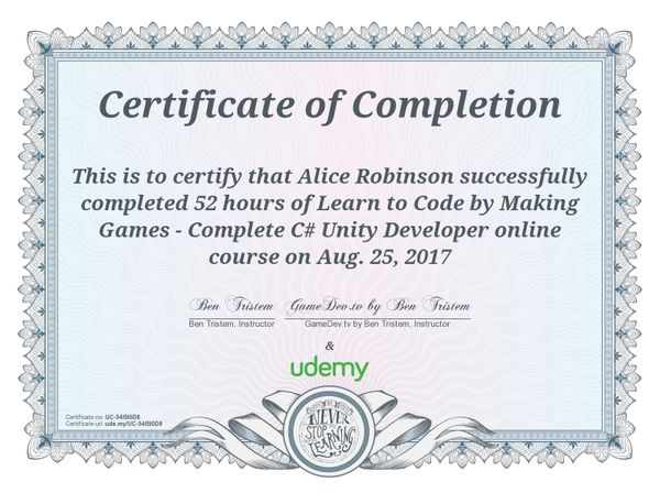 Completed! UnityCourse - Game Dev Weekly - 8/19 - 8/25